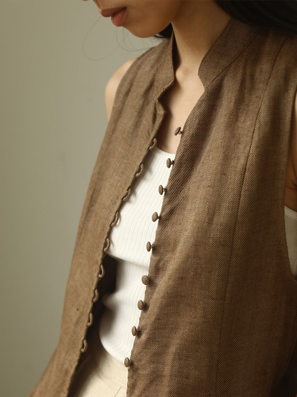 2020 Summer Collection TODAYFUL トゥデイフル Herringbone Linen Vest 12010422
