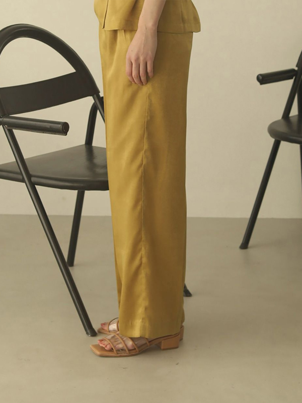 2020 Summer Collection TODAYFUL Crepe Satin Trousers 12010722 Crepe Satin Shirts 12010418