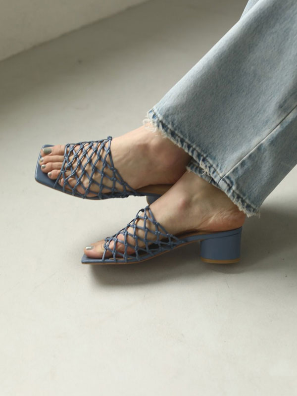 TODAYFUL トゥデイフル Leather Mesh Sandals 12011052