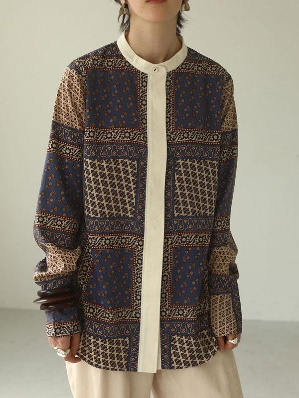 2020 Fall Collection TODAYFUL トゥデイフル 予約 10月中旬頃 Standcollar Paisley Shirts 12020410