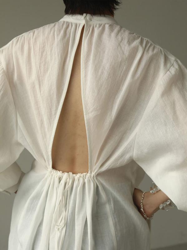 2020 Summer Collection TODAYFUL トゥデイフル Gauze Gather Dress 12010332