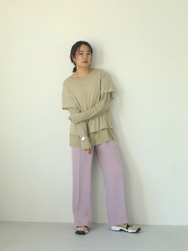 2020 Spring Collection TODAYFUL トゥデイフル Layered Sheer Long T-Shirts 12010615
