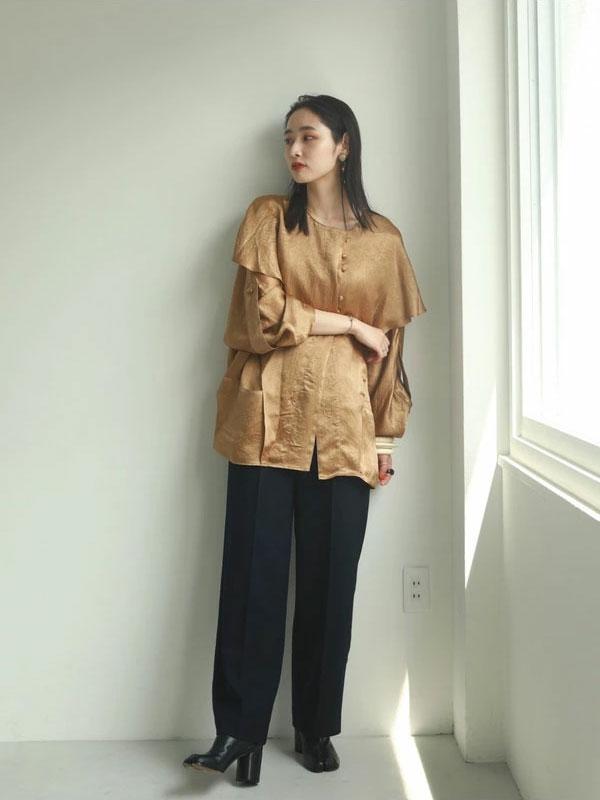 TODAYFUL トゥデイフル Vintagesatin Frill Shirts 12020407