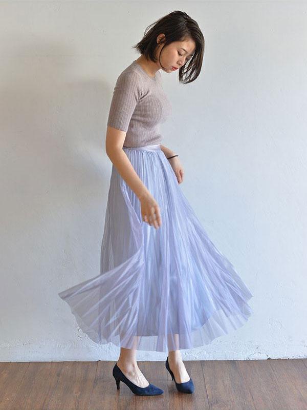 Lily Brown 変形シアープリーツスカート lwfs204018