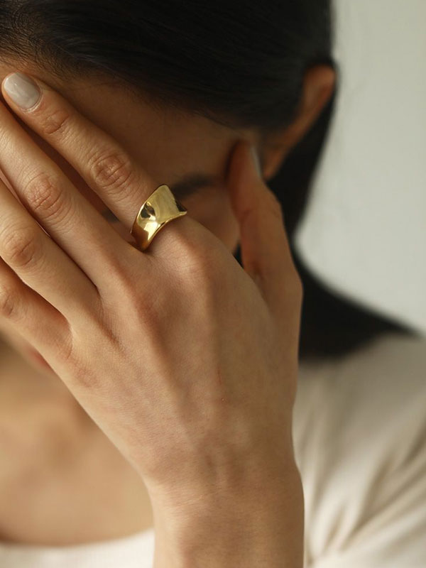 2020 Summer Collection TODAYFUL トゥデイフル Wide Curve Ring (Silver925) 12010944