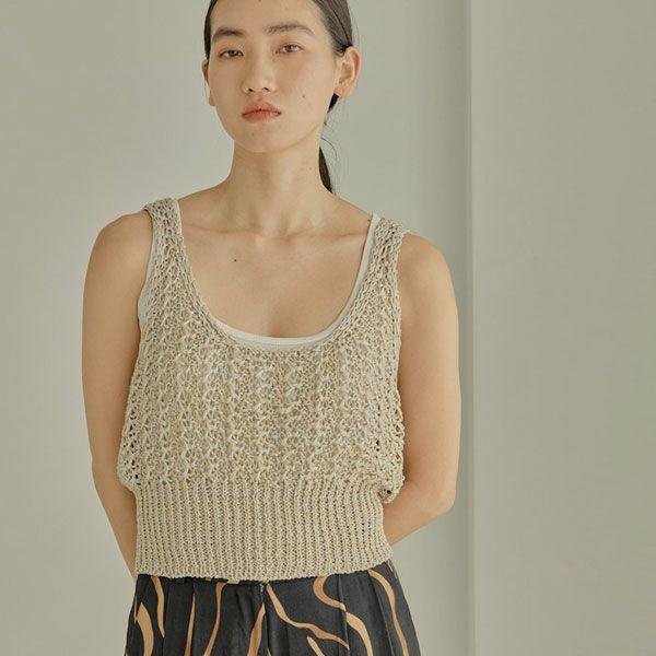 TODAYFUL トゥデイフル リネン ニット ビスチェ Linen Knit Bustier 12010525