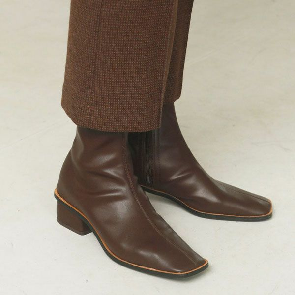 TODAYFUL トゥデイフル ストレッチ レザー ブーツ Stretch Leather Boots 12021029