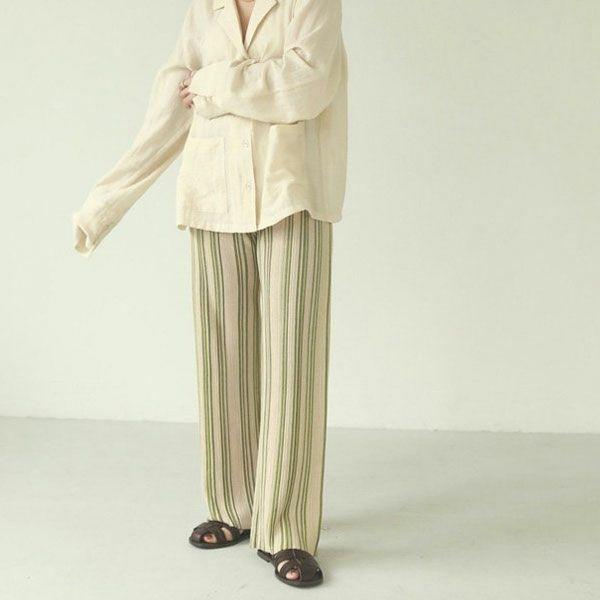 TODAYFUL トゥデイフル ストライプ ニット レギンス Stripe Knit Leggings 12110706