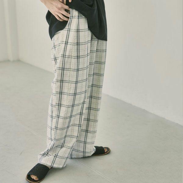 トゥデイフル チェック ギャザー パンツ Check Gather Pants 12110722