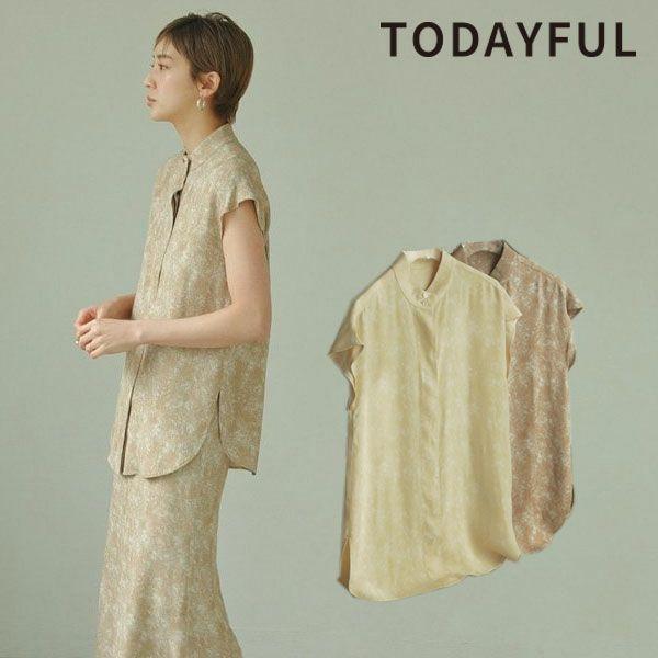 TODAYFUL トゥデイフル スタンドカラー マーブル シャツ Standcollar Marble Shirts 12110434