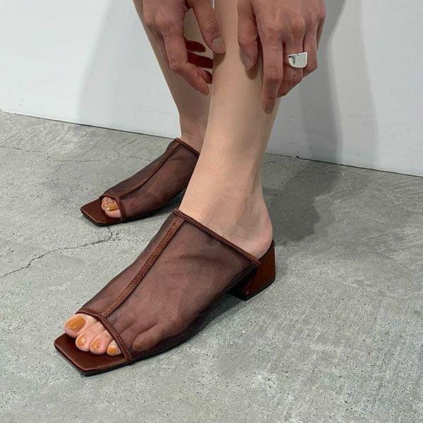 トゥデイフル シアー パイピング サンダル Sheer Piping Sandals 12111038