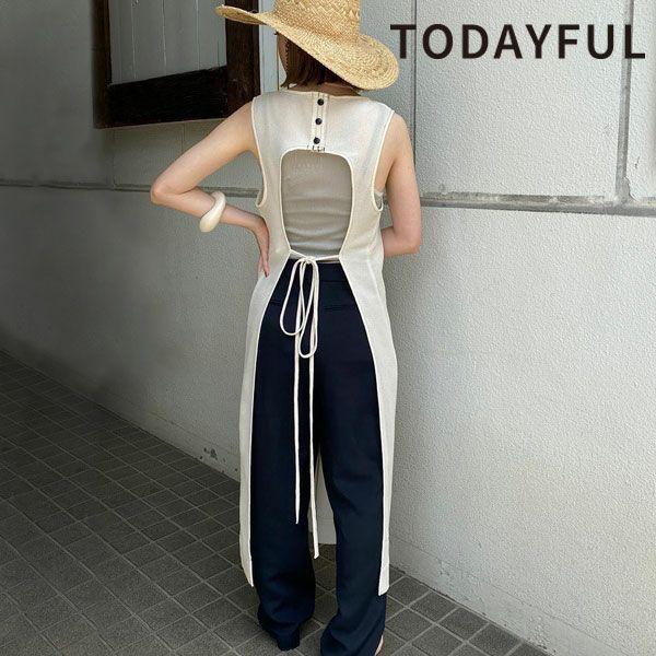 トゥデイフル バックオープン メッシュ ドレス Backopen Mesh Dress 12110333