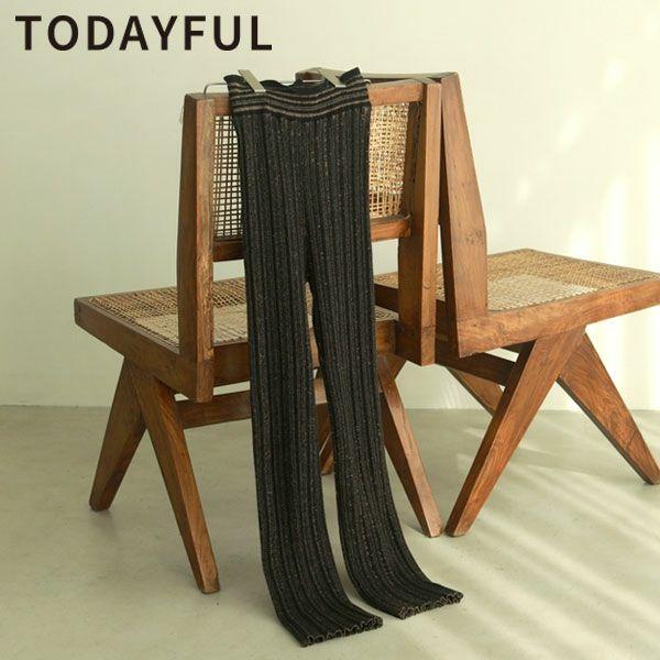 トゥデイフル ランダムリブ ニット パンツ Randomrib Knit Pants 12110716
