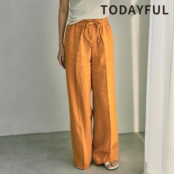 TODAYFUL トゥデイフル リネン ギャザー パンツ Linen Gather Pants 12110715