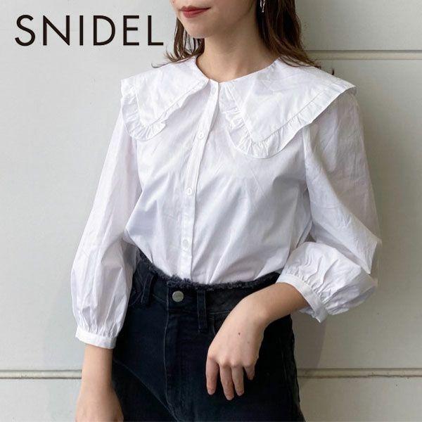 SNIDEL スナイデル  ビッグカラーパフスリーブブラウス swfb211192