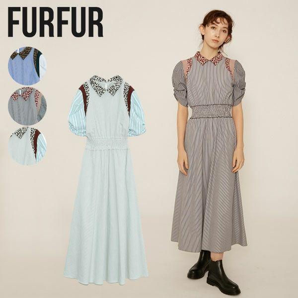 FURFUR ファーファー ミックスマテリアルドレス rwfo211033
