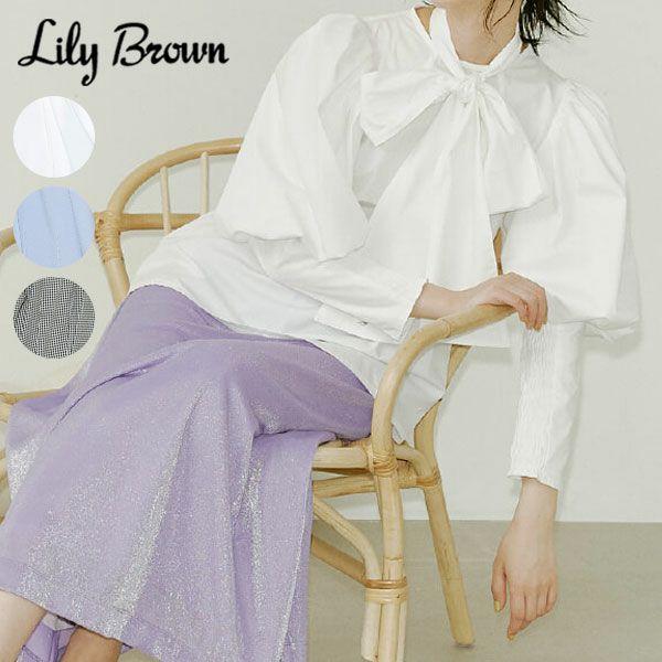 Lily Brown リリーブラウン 2wayパワショルブラウス lwft212002