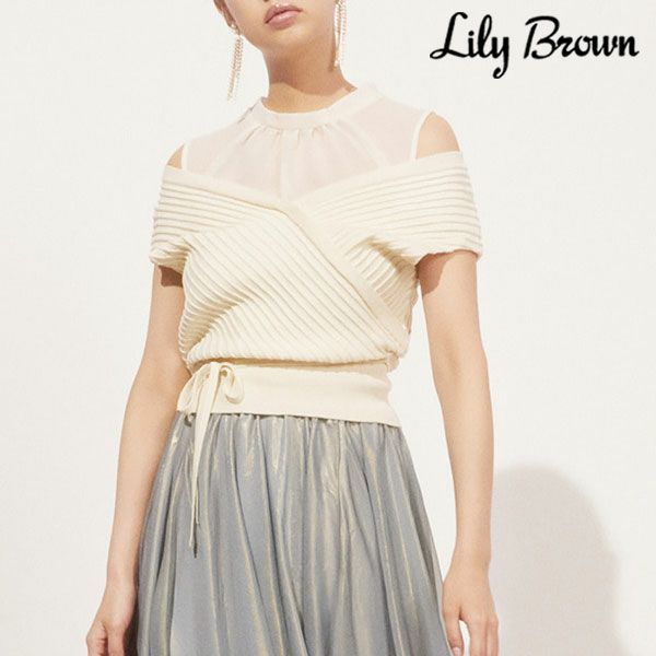 Lily Brown リリーブラウン ノースリレイヤードニットトップス lwnt212026