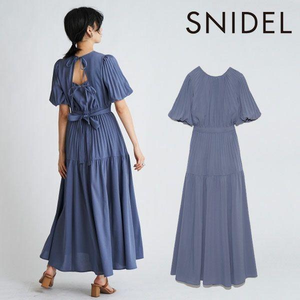 SNIDEL スナイデル バックデザインプリーツワンピース swfo212009