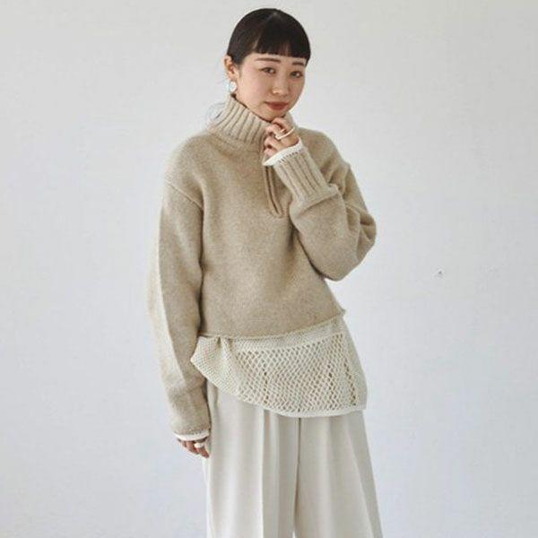 TODAYFUL トゥデイフル ウール ジップ ニット Wool Zip Knit 12120501