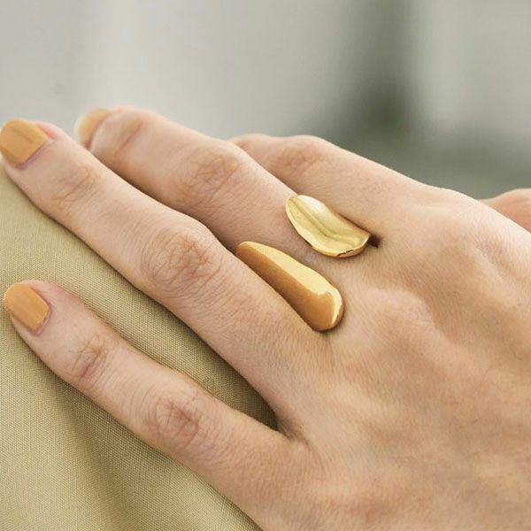 TODAYFUL トゥデイフル アシメトリースタンドリング Asymmetry Stand Ring (Silver925) 12110942