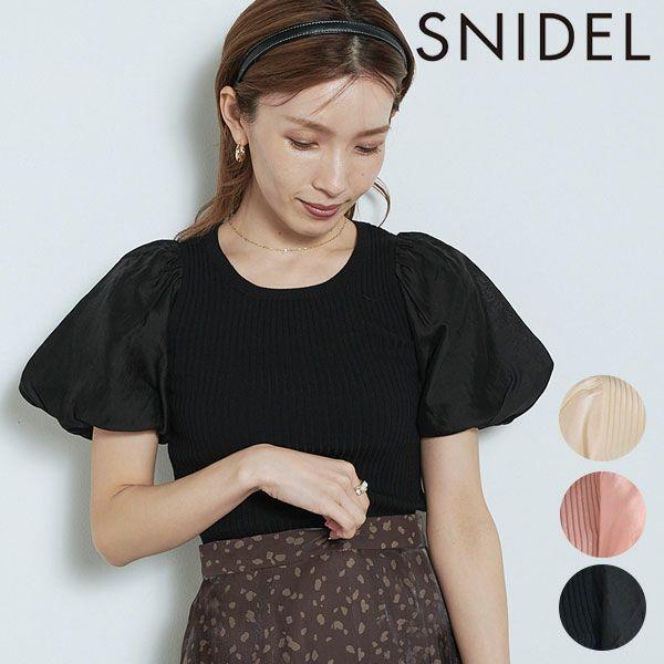 SNIDEL スナイデル シアースリーブニットプルオーバー swnt214022