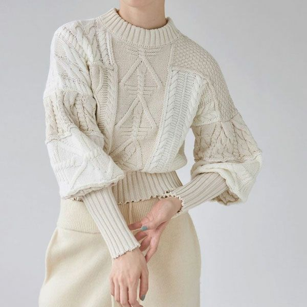 TODAYFUL トゥデイフル Patchwork Puff Knit  12120528