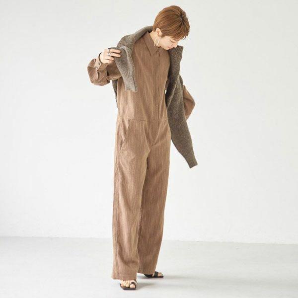TODAYFUL トゥデイフル ヘリンボーン シャツ コンビネゾン Herringbone Shirts Combinaison 12120320
