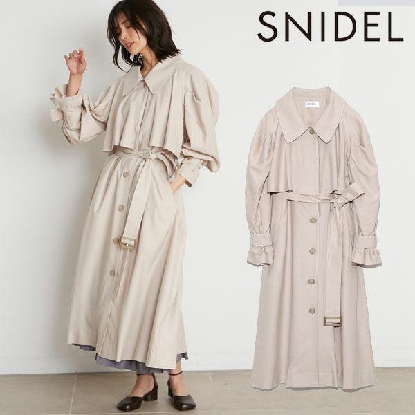 SNIDEL スナイデル ステンカラーライナートレンチコート swfc214051