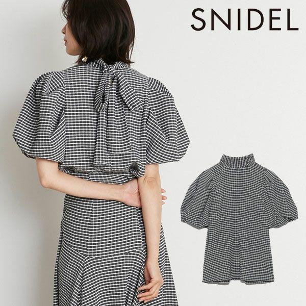 SNIDEL スナイデル ボリュームスクエアスリーブブラウス 予約 swfb214104