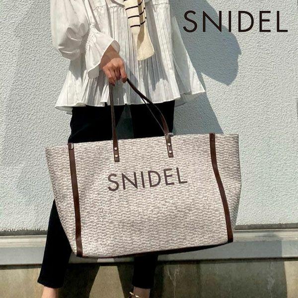 SNIDEL スナイデル オーバーサイズロゴトートバッグ swgb214682