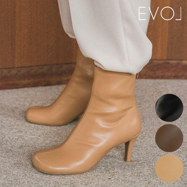 EVOL イーボル オブリークトゥショートブーツ  br23480